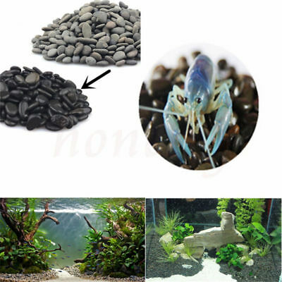 100g Black Sand Stone For Aquarium Fish Tank Glass Water Plant Decoration