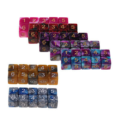 10pcs 16mm D6 Dice for Kids Math Education & Adult Party Games Toys