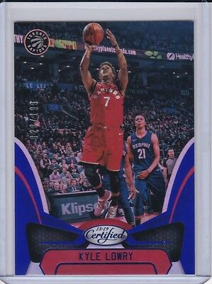 Kyle Lowry  2018-19 Certified Base Blue Prizm SP/199 Toronto Raptors