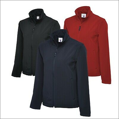 Uneek Men Women PREMIUM Soft Shell Full Zip Jacket Top Waterproof Windproof Lot