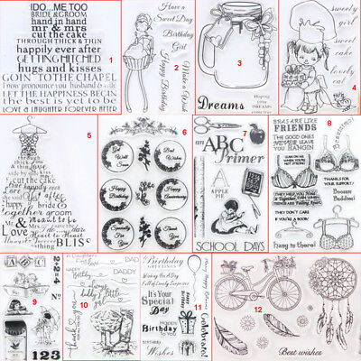 Happy Girl Transparent Silicone Clear Stamps DIY Scrapbook Embossing Card School