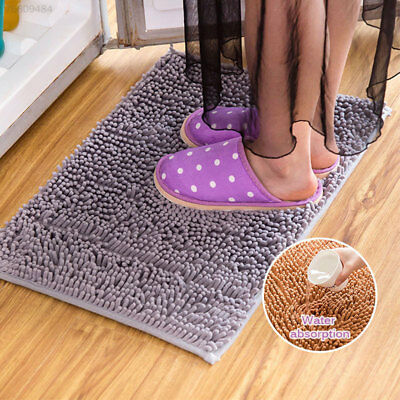 B28E Chenille 58*38cm Foot Pad Comfortable Soft Home Supplies Water-Absorbing