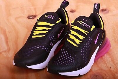 new product 3d821 33178 NIKE AIR MAX 270 Men's Black Grape Yellow Running Shoes AH8050 006 Size  8.5-11.5