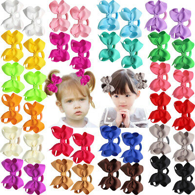 40Lots Baby Girls Hair Bows Hair Ties Ponytail Holders Kids Rubber Elastic Bands