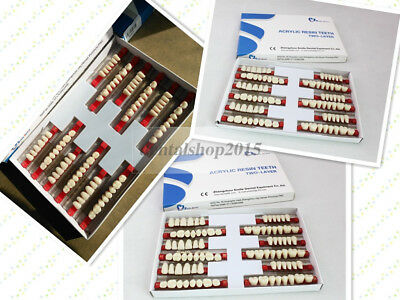 3 sets of 28*1 dental Acrylic Resin Teeth A1 color denture 3sizes for choose