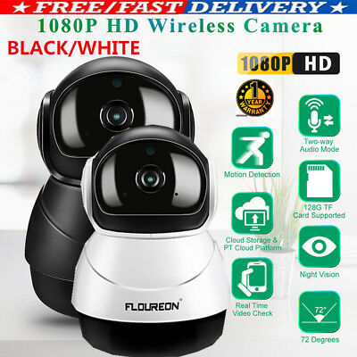 FLOUREON 1080P HD Wifi Wireless CCTV Security IP Camera SD ome Baby Monitor AU