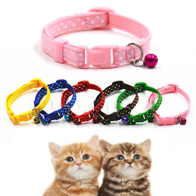 Lovely Small Cat Kitten Dog Puppy Footprint With Bell Nylon Fabric Pet Collar