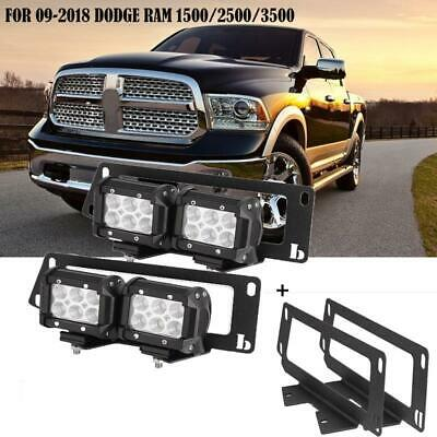 4pcs 18w Led Fog Light Bar Bumper Mount Bracket For 09 2018