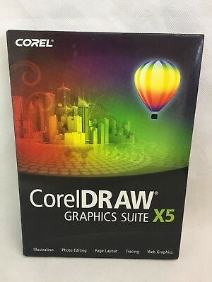 Corel Draw - Graphics Suite X5 - Full Version for Windows - Disc and Guidebook -