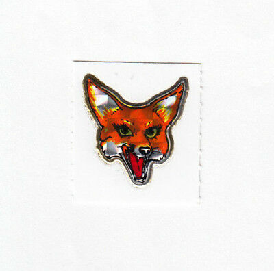 Vintage 80's Prism Prismatic Red Fox Sticker