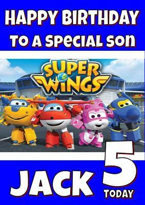 Superwings Personalised Birthday Card - Any Name, Age, Relation