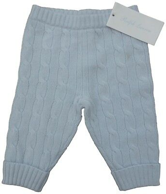 RALPH LAUREN baby boys pure CASHMERE cable TROUSERS Bottoms 6/9M (74cm) BNWT