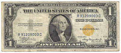 1935A $1 NORTH AFRICA YELLOW Seal! Old US Paper Money!