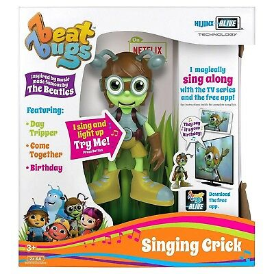 "Beat Bugs Hijinx Alive Technology 6"" Singing Crick Toy Figure Sing Up And Light"