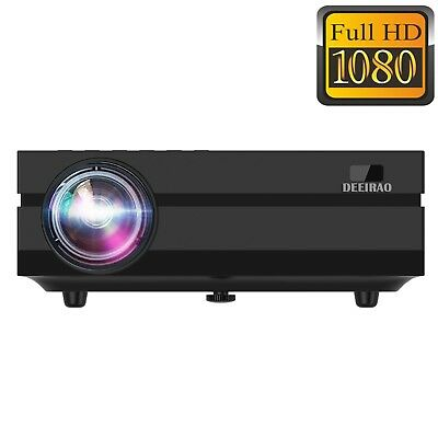 Home Theater LCD Projector Portable Full HD 1080P Native Resolution HDMI LED