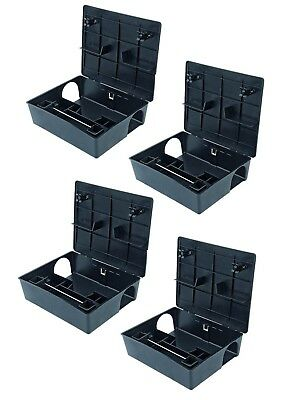 4 X RODENT BOX TRAP STATION - Professional Rat Mice Mouse No Poison or Bait Inc.