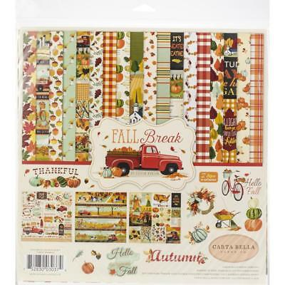 "Carta Bella Collection Kit - FALL BREAK - 12x12"" papers + stickers"