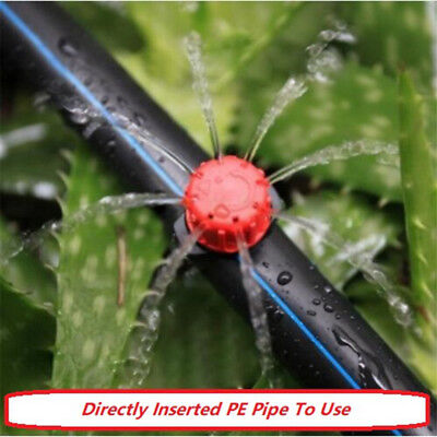 100Pcs Garden Drop Irrigation Sprinklers Drip Dripper Head Micro Water Emitter
