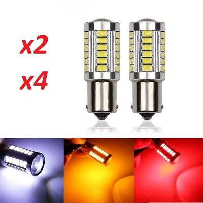 Bombillas P21W LED, Canbus, BA15S (1156), 33smd, Chip 5630, blanco, ambar, rojo.