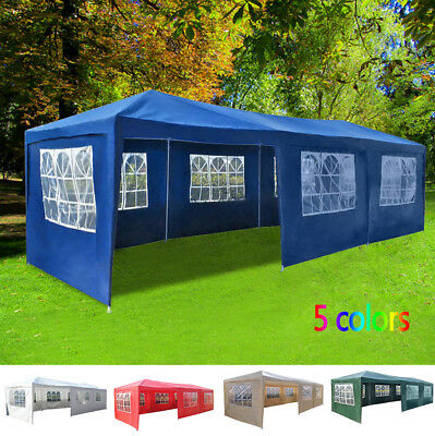 3x9m Waterproof Garden Gazebo Outdoor Marquee Canopy PE Party Tent Party Wedding