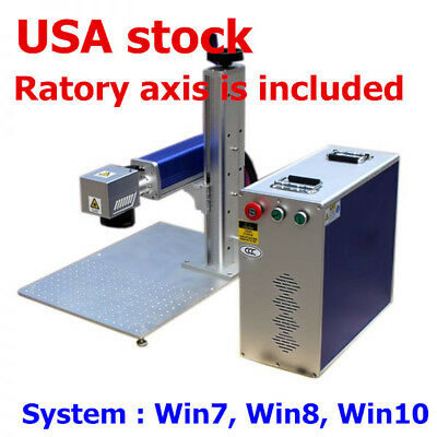 20W Split Fiber Laser Marking Engraving Machine, Ratory Axis Include