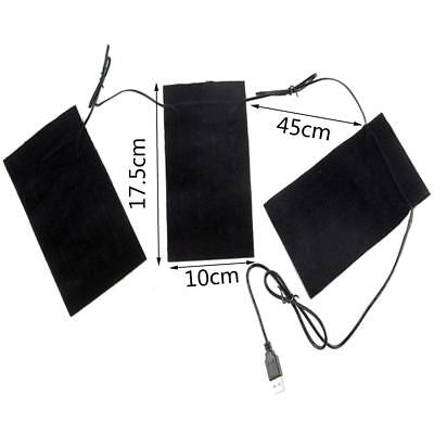 USB Electric Clothes Heater Sheet Winter Heating Pad Warmer Tool Heated Film