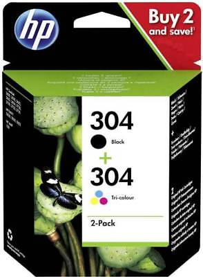 Hewlett-Packard (HP) Original 304 Combo 2-Pack Black/Tri-Colour (3JB05AE) 3720