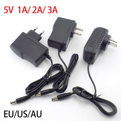 DC AC 5V 1A 2A 3A 1000MA Power Supply Adapter plug Charger For LED Strip Light