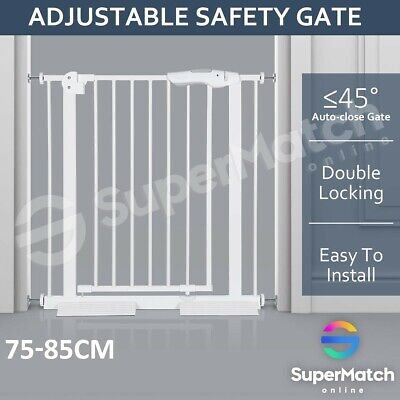 77CM Height Adjustable Width Baby Pet Child Safety Security Gate Stair Barrier