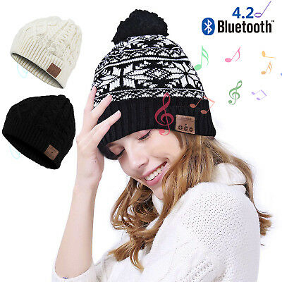 Winter Beanie Hat Wireless Bluetooth 4.2 Smart Cap Headphone Stereo Speaker Mic