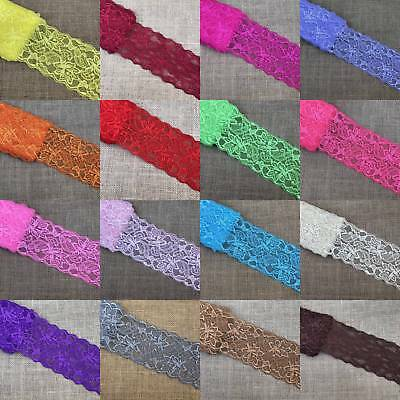 1 5 10 Yards Elastic Flower Stretch Lace Trim Ribbon Sewing Dress Handicrafts