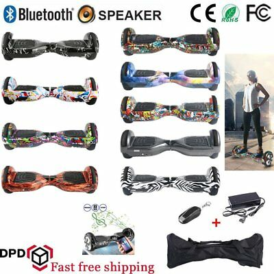 "HOVERBOARD 6.5"" Speaker Balance Luci LED Overboard Monopattino Scooter 13colore#"
