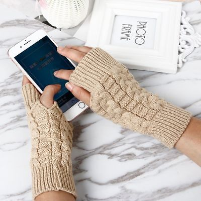 Fashion Knitting Gloves And Mittens Fingerless Soft Knitted Warm 1 Pair