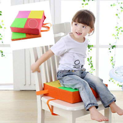 US Demountable Dining Chair Booster Cushion Mat Seat Kids Seats Booster (Orange)