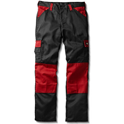 Dickies ED247 Everyday Work Black/Red MultiPocket Workwear Cargo Combat Trousers