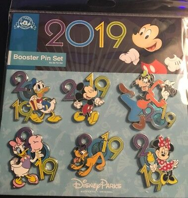 Disney 6 pin Booster Set - 2019 Booster Fab 5 and Daisy