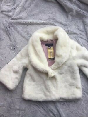 Ted baker Fur Jacket Age 9-10 BNWT