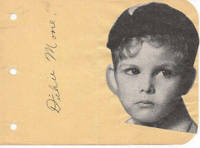 1934 Dickie Moore Signature And Photo Our Gang Little Rascals W/ Envelope