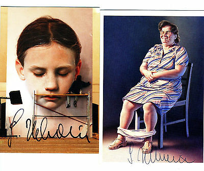RARE Gottfried Helnwein - original autographs - bothsigned Austria art with COA