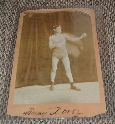 1890s SIGNED MUSCULAR JIMMY DEVERS Original PHOTO Autographed EXTREMELY RARE GAY