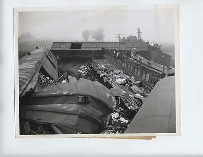 Vtg 1944 Terre Haute, Indiana RR Railroad Accident photo Train Wreck DIXIE FLYER