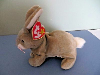 Ty Beanie Baby ~ NIBBLY the BUNNY 1998/1999, P.E. PELLETS ~ MINT with TAGS