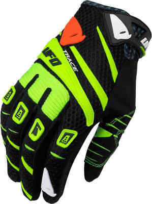 Ufo Guanti Gloves Trace Nero Giallo Fluo Cross Enduro Size M