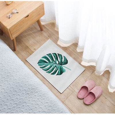 6BC6 Leaf Pattern Chairs Tapete Door Winter Home Decoration Soft Rug Carpet