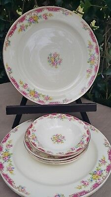 Set of 7Edwin Knowles China Co.Floral Design