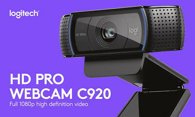 Logitech C920 HD Pro USB 1080p Webcam, HD - BRAND NEW MANUFACTURER SEALED