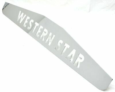 """mudflap plate chrome 4x24"""" WESTERN STAR 3 stud mount for rear mud flap each"""