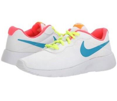 quality design 61cb4 13e22 New NIKE TANJUN GS Girls Youth White Blue Pink Athletic Sneakers Shoes Size  6 Y