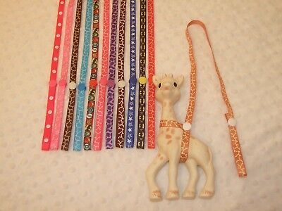 Sophie the giraffe strap/harness/holder/toy saver, for Boys and Girls
