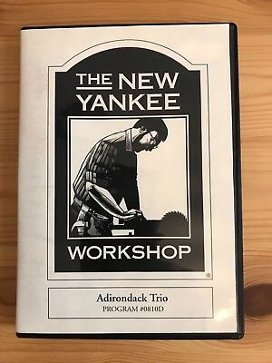 New Yankee Workshop Norm Abram Adirondack Trio DVD/plans Chair Table Footstool